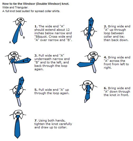 how to tie a tie double windsor
