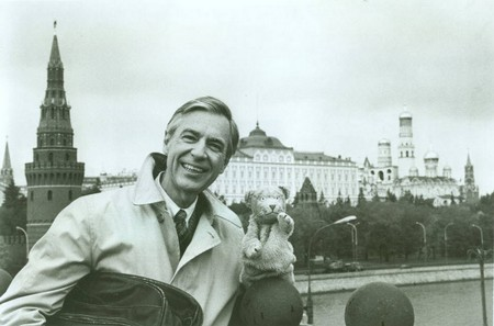Fred traveled to Russia to tape special segments for Mister Rogers' Neighborhood. © 1987 Family Communications, Inc.