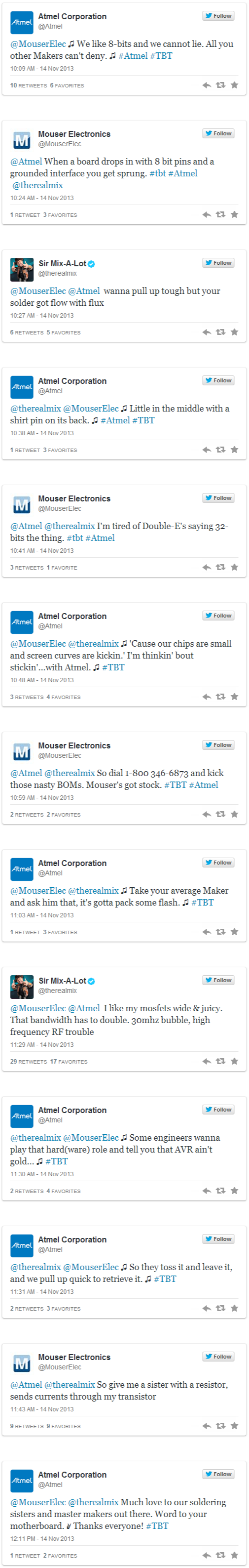 Mouser, Atmel, and Sir Mix-A-Lot  A Twitter Rap about Electrical Engineering (1)